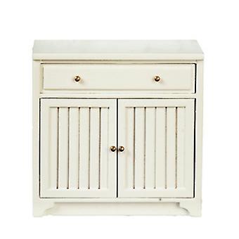 Dolls House White Base Unit Bottom Cabinet Jbm Miniature Kitchen Furniture