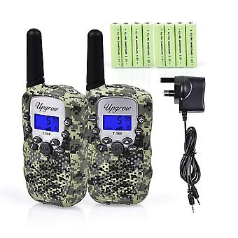 Upgrow 2pcs rt-388 kids walkie talkies children walky talky 0.5w 8 channels pmr446mhz rechargeable 2