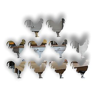 Ферма дворе петух / петушок мини-Крафт размера акриловые зеркала (10Pk)