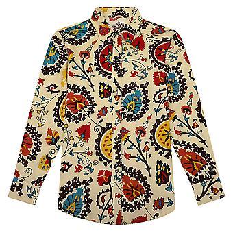 يانغفان الرجال & apos;ق زائد حجم الكتان العرقية قميص طويل الأكمام