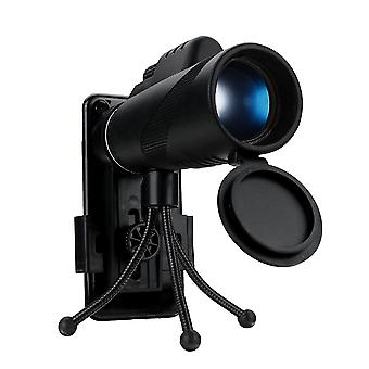 40X60 Optical Lens Telescope BAK4 Monocular Telescope Camping HD Night Vision With Phone Clip Tripod