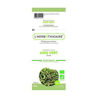 Organic green anise seed 80 g