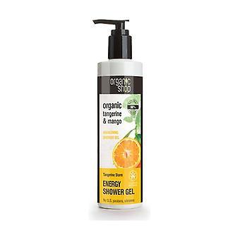Organic Tangerine and Mango Awakening Shower Gel 280 ml of gel