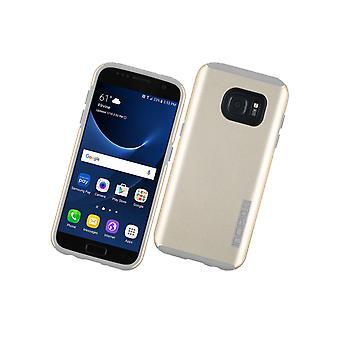 Caso de DualPro Incipio para Samsung Galaxy S7 (champanhe/cinza)