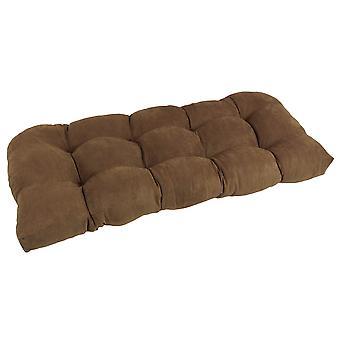 Coussin de 42 pouces par 19 pouces en forme de U Micro Suede Polyester Tufted Settee/Bench Cushion - Saddle Brown