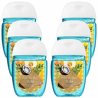 HandiGel Pocket Size Hand Sanitizers Antibacterial Gel, 29ml-Fun in the Sun, 6pk