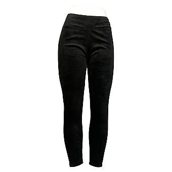 Cuddl Duds Women's Pants Plus Double Plush Velour Leggings Black A293100