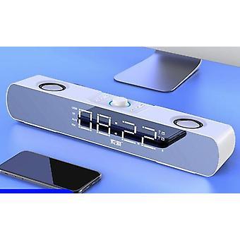 Kello Langaton Bluetooth-pelikaiutin, tietokoneen kaiutin valolla