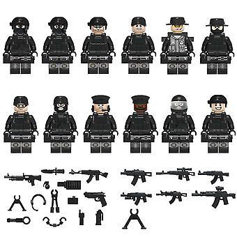Military Special Forces Soldiers, Vehicle Bricks, Figures Guns, Weapons, Armed