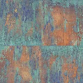 Green Industrial Panel Wallpaper