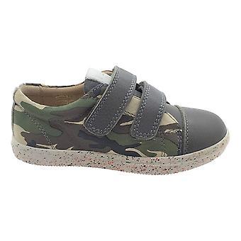 PETASIL Pose Double Velcro Leather Trainer Styled Shoe