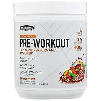 MuscleTech Peak Series Pre Workout Gummy worm 435 gr