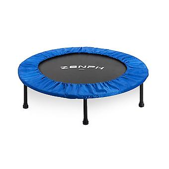 Foldable muted round trampoline kids indoor entertainment adult fitness stability training