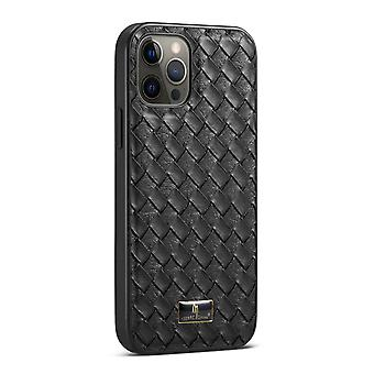 For iPhone 12 Pro Max Case Slim Fit Woven Pattern Light Protective Cover