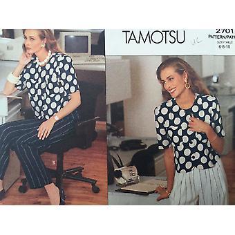 Vogue Coser Patrón 2701 Misses Ladies Top Pantalones Pantalones Tamaño 6-10 Uncut Tamotsu