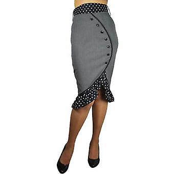 Chic Star flæser Blyant Nederdel i grå
