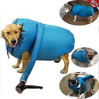 Accesorios para secador de perro con kit de secado para secador de pelo, perros pequeños, medianos y grandes pueden secar rápida y fácilmente el baño del kit para perros
