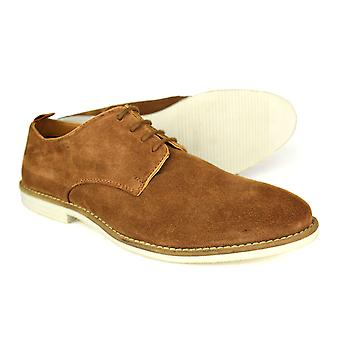Silver Street London Dalston Mens Tan Suede Casual Shoes