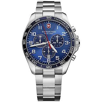 Victorinox fieldforce Watch for Analog Quartz Men with Stainless Steel Bracelet V241901