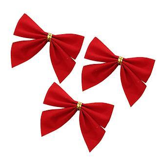 12PCS Jul Båge för jul dekor Röd