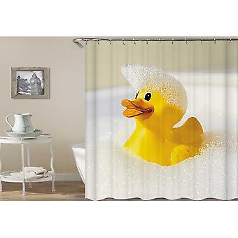 ברווז גומי בועה אמבטיה וילון מקלחת