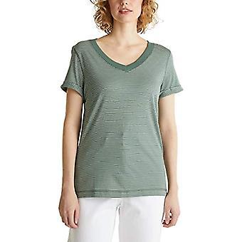 edc by Esprit 030cc1k308 T-Shirt, Green (350 / Khaki Green), XS Woman
