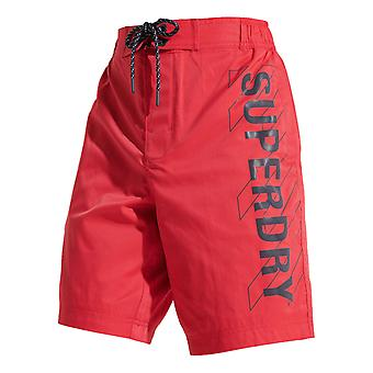 Superdry Classic Board Shorts - Bright Red
