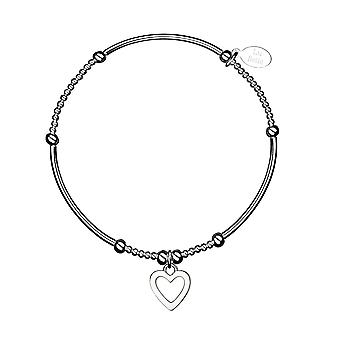 Love Noodle Stacking Bracelet - 17.5cm - Silver - Jewellery Gifts for Women from Lu Bella