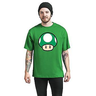 Super Mario Mens 1 Up Mushroom T-Shirt