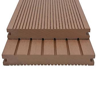 vidaXL WPC Pavimenti massicci con accessori 10 m² 2,2 m marrone chiaro