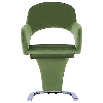 vidaXL sillas de comedor 2 piezas. terciopelo verde