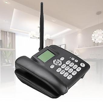 Svart fast stasjonær trådløs trådløs telefon
