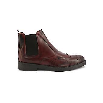 Duca di Morrone - Shoes - Ankle Boots - 101-CRUST-BORDO - Men - darkred - EU 42