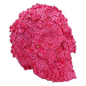 Fuschia Fate Pink Floral Skull