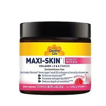 Country Life Maxi Skin Vitaliteit met B12 Poeder, 4.37 Oz