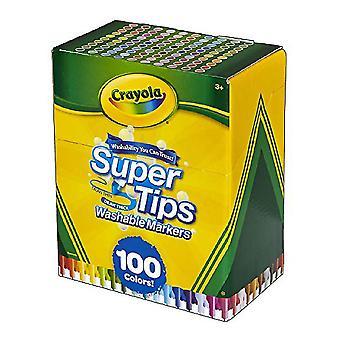 Set of Felt Tip Pens Super Tips Crayola (100 uds)