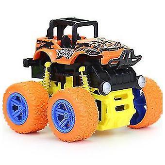 Children Mini Inertial Off Road Vehicle Four Wheel Drive Plastic Children Toy(Yellow)
