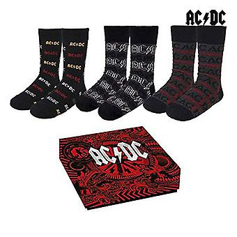 Chaussettes ACDC Adulte (Taille un) (3 uds)