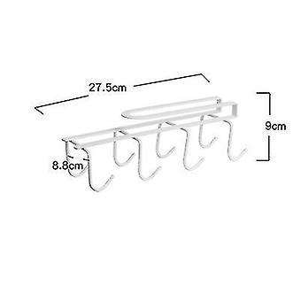 Kitchen Cup Rack Free Perforated Water Cup Rack(White)