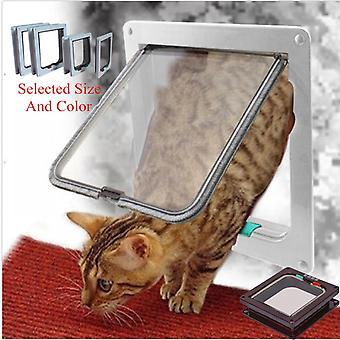 Lohill Pet Dørkarm Safe 4 Måde Låsning Små mellemstore store hund Cat Flap Magnetisk Abs