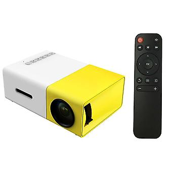 Mini Portable Yg300 Led 1080p Projector With Remote Control For Yg-300 Laptop Smartphone Yellow And White