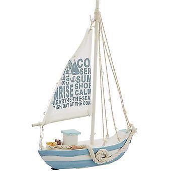 Holzschiff, Holz, Mehrfarbig, 21,5 x 28 cm