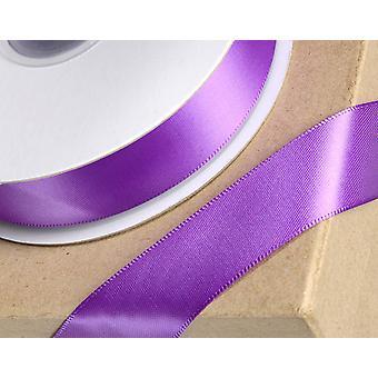 25m púrpura 3mm cinta de satén ancho para artesanías