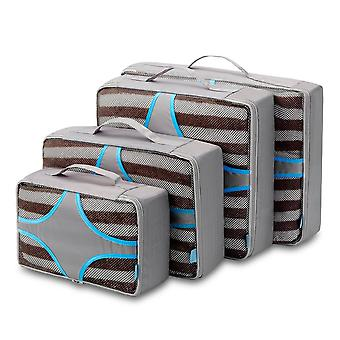 Packing Cubes 4 Set Travel Luggage Organizers With Durable Laundry Bag-dark Gray