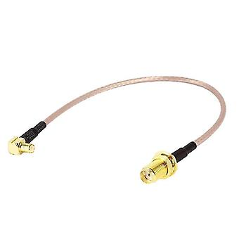 15cm SMA Female to MCX Male Right Angle Adapter RF Coaxial Coax RG316 Cable