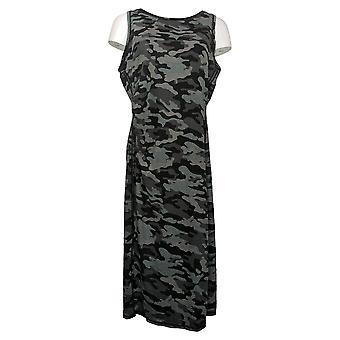 zuda Petite Dress Regular Printed Knit Midi Gray A377789