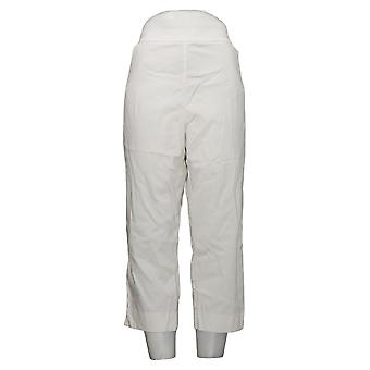 Susan Graver Pantalones de Mujer Plus Manhattan Tobillo Blanco A306513