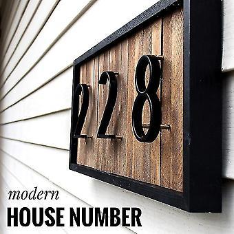 ハウスDIY番号ドアホームアドレス3D番番デジタルドア屋外サインのためのモダンナンバー