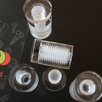 4 x Klara Standoffs, Glas Som, Akryl, Storlek 19x25mm