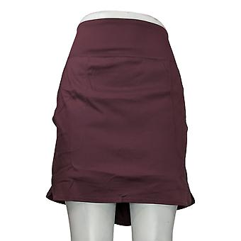 zuda Skirt Regular Cityscape Skort w/ Pockets Purple A381036